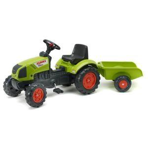 Tracteur - Chantier FALK Tracteur à Pédales Claas Arion 410 + Remorque
