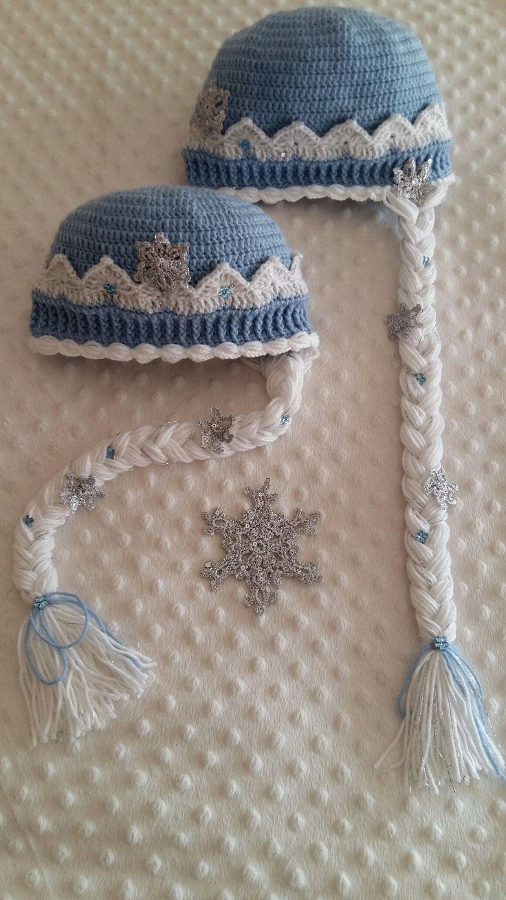 Snow queen handmade crochet hat