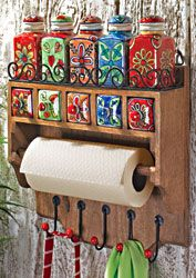 Colorful Fair Trade Kitchen Rack