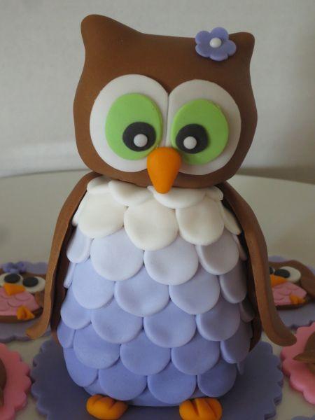 Baby Shower owl cake decoration