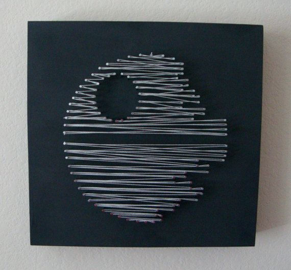 25 unique nail string ideas on pinterest string heart awesome set of star wars death star millennium falcon tie fighter nail and string wall art shelf art prinsesfo Image collections