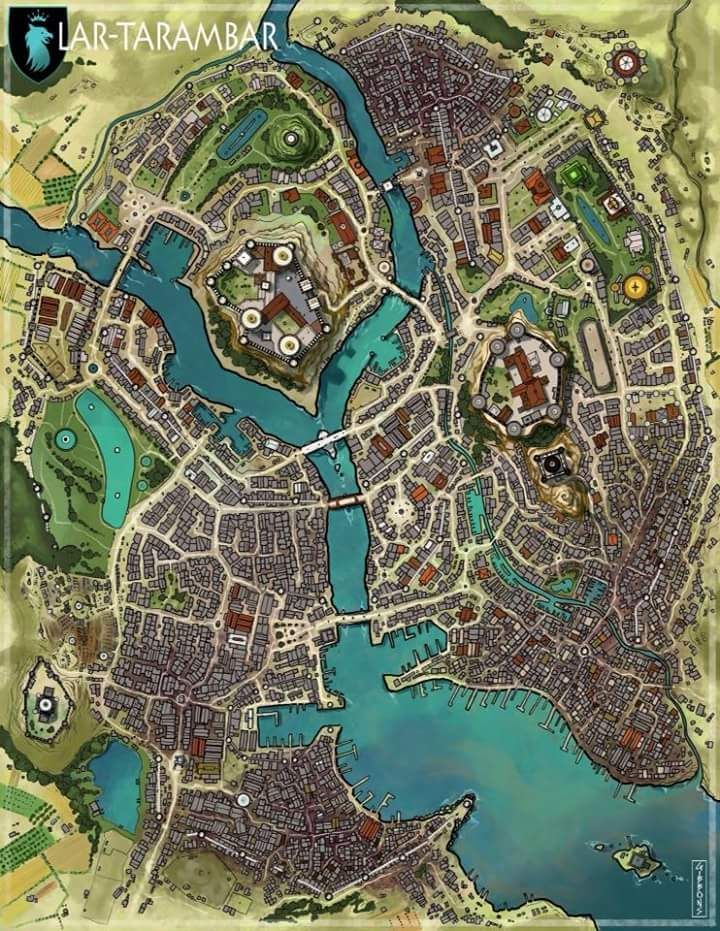 Fantasy City Map, Fantasy World