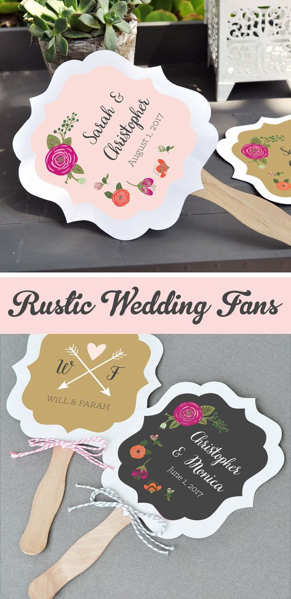 Rustic Wedding Fan Favors Wedding Fans Wedding Hand by ModParty