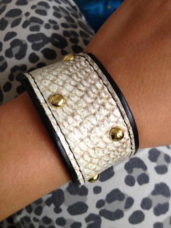 Fish skin. My favourite piece of jewellery right now.