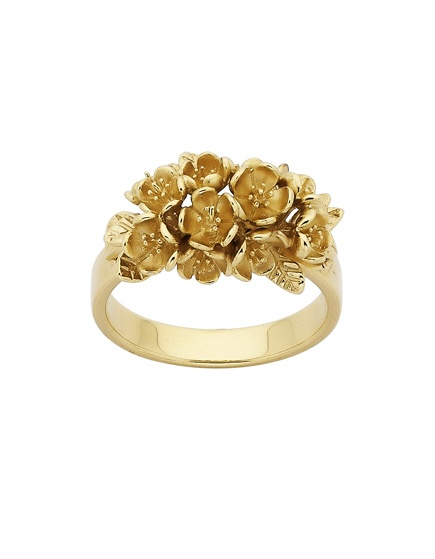 KW botanical wreath ring