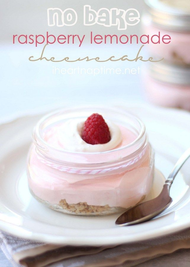 no bake raspberry lemonade cheesecake...YUM!