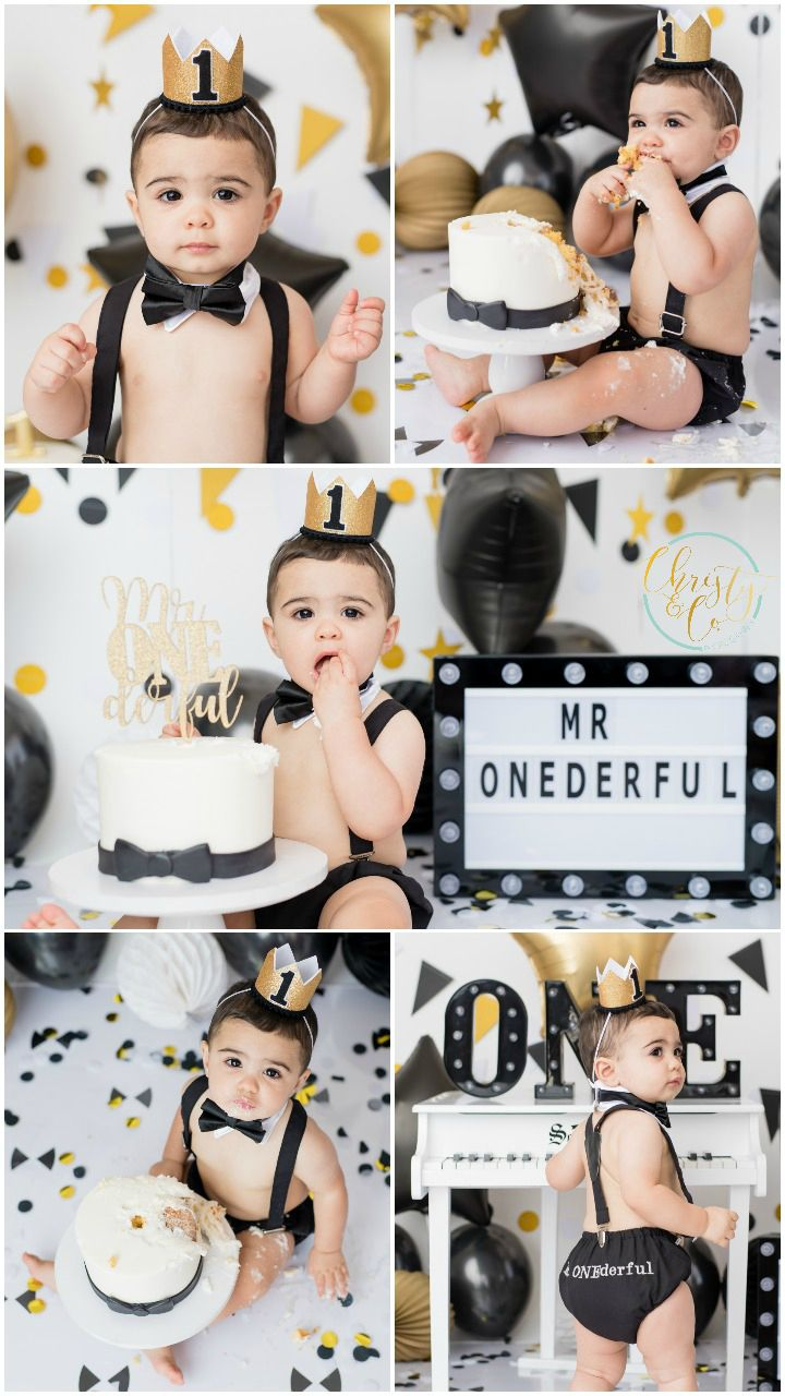 Mr One Derful Cake Smash First Birthday Session Christy Co