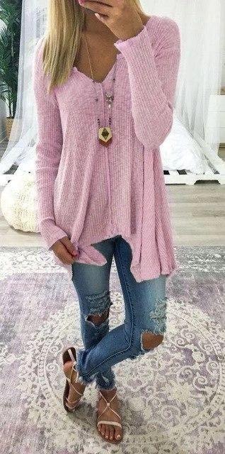 sweater women Autumn and winter new European and European long sleeve knitwear sweater big yard sweater christmas sweater