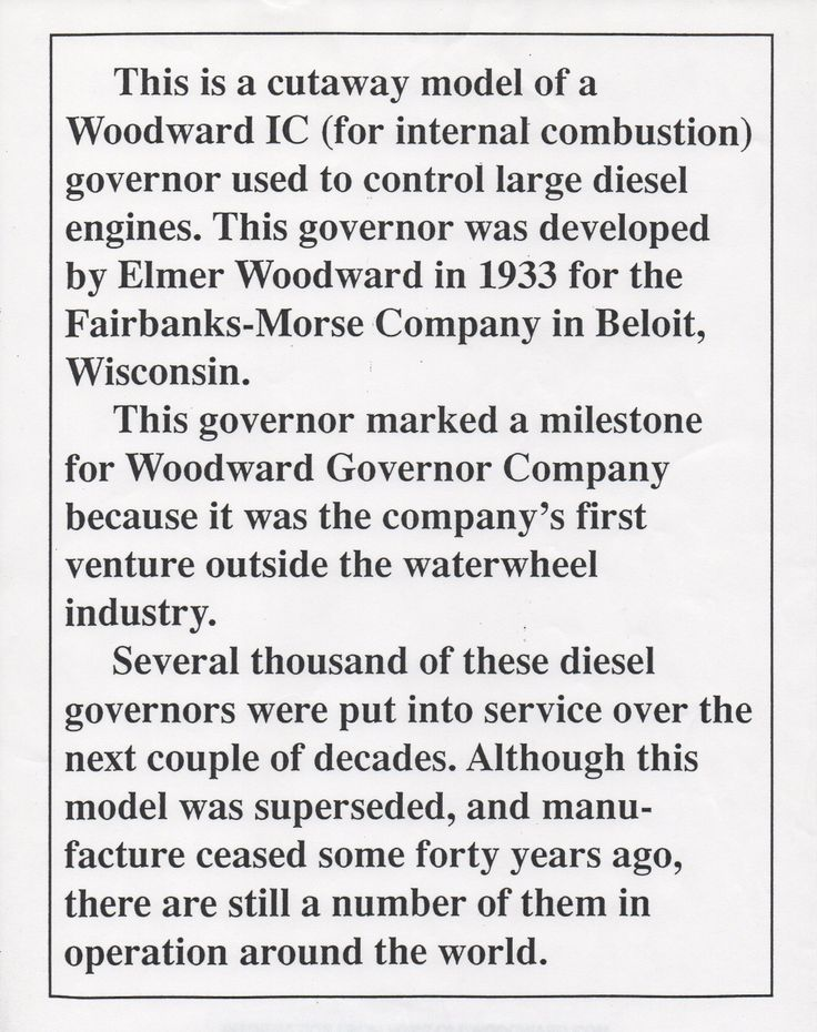 1260 mejores imgenes de bradford electrics history en cut away elmer e woodwards first diesel engine governor designed and developed from a hydraulic water wheel malvernweather Choice Image