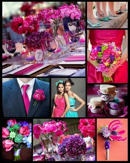 Turquoise Fuchsia Wedding: The 25+ Best Purple Summer Wedding Ideas On Pinterest