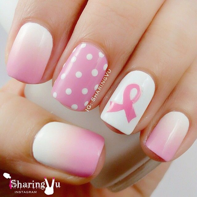 193 best Awareness Nail Art images on Pinterest | Breast ...