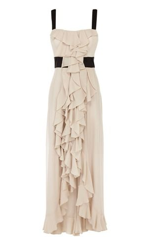 Ruffled Maxi dress by Karen Millen - I MUST have this. Paired