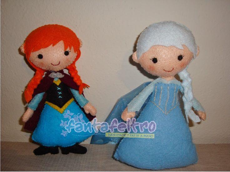 Fanta Feltro: Anna ed Elsa di Frozen