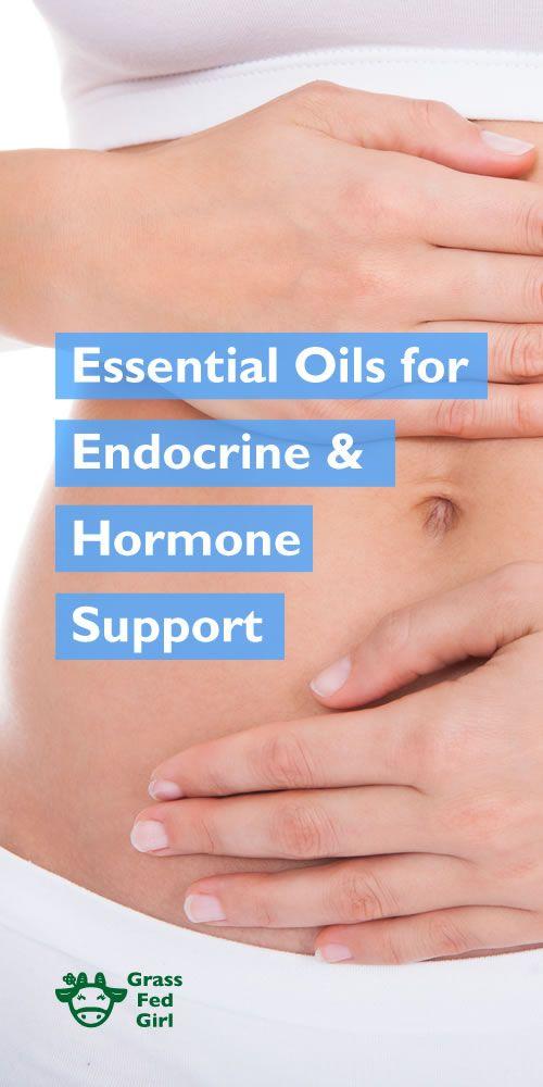 Essential Oils for Endocrine & Hormone Support | http://www.grassfedgirl.com/essential-oils-female-hormonal-support/