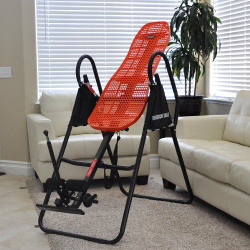 Emer Deluxe Foldable Contoured Gravity Inversion Table For Back Therapy  Exercise Fitness INVR 09B
