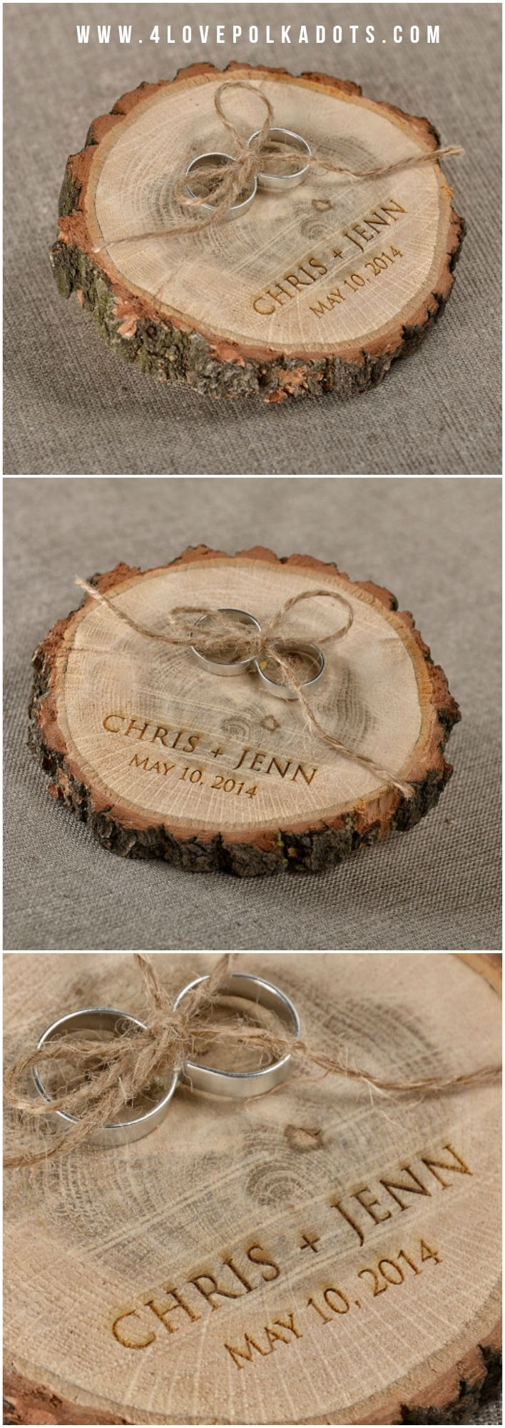 Tree stump ideas for wedding - Pyrography Wooden Tree Log Slice For The Rings On Your Wedding Day Our Large Wooden