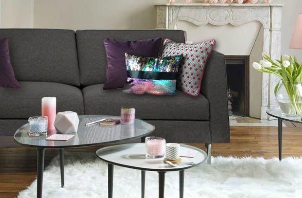 Les 8 meilleures images du tableau quels coussins pour un canap gris anthracite sur pinterest - Coussins pour canapes ...