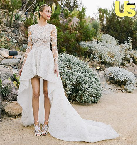 This dress is EVERYTHING....Whitney Port's Waterfall Hemline Wedding Dress: See the Edgy Bride! - Us Weekly