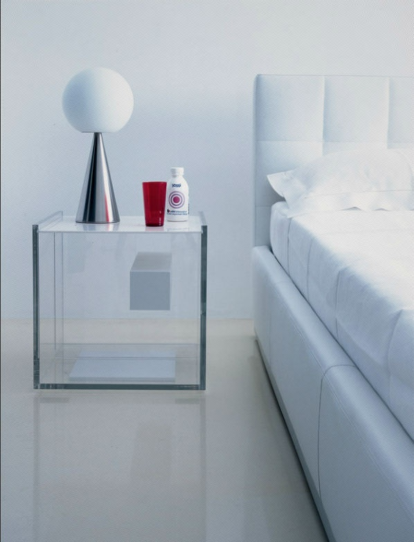 contemporary bed-side table (plexiglas®) SEGRETO by I.Marelli & D.Eugeni ZANOTTA