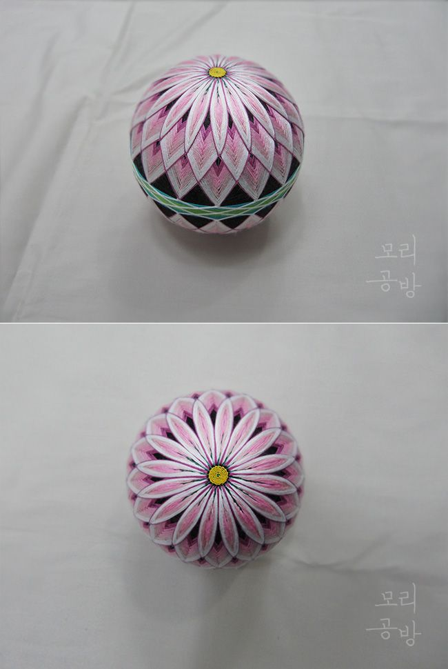 대륜大輪국화는 꽃의 지름이 18cm 이상인 국화이다. 이 공은 큰공 작업하기에 앞서 작게 만들어 보았다. 고...