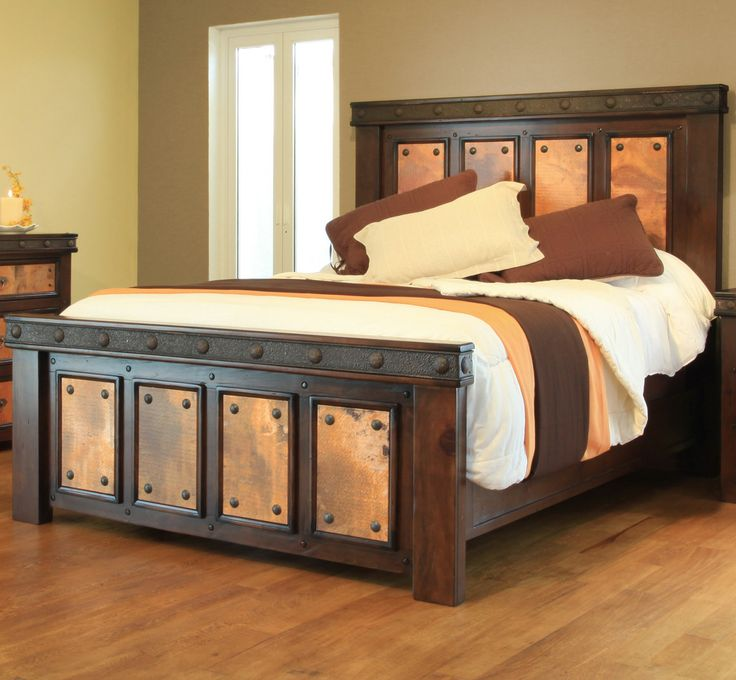 Exceptional Copper Canyon Complete Bed   King Unique Rustic Style With Copper Accents Part 21
