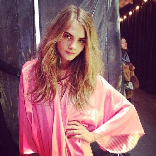 Image via We Heart It #backstage #beautiful #model #Victoria'sSecret #caradelevingne