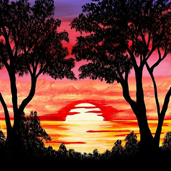 Pink Sunset Painting - Tracey Lee Art Designs https://www.pinterest.com/tracleeart/art-by-tracey-lee-art-designs-tracey-everington/