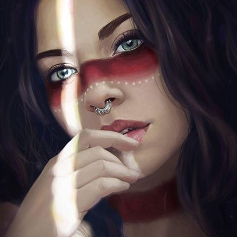 Image result for native american female war paint