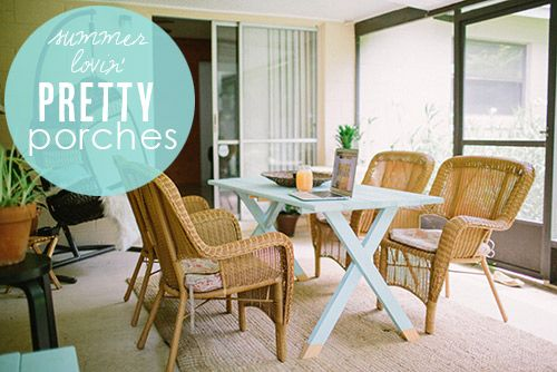 Fun and breezy ideas for decorating a porch from Babble.com | Photo by Becka Robinson of Studio 222/Life As an Artistpreneur: Diy Ideas, Pretty Porches, Porches Living, Living Spaces, Craft Activities, Back Porches, Crafts Activities, Porches Ideas, Outdoor Spaces