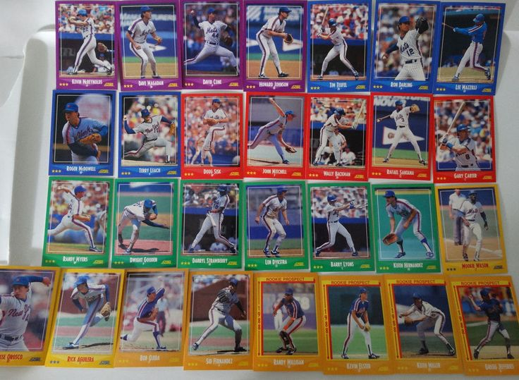 1988 Score New York Mets Team Set of 29 Baseball Cards #NewYorkMets