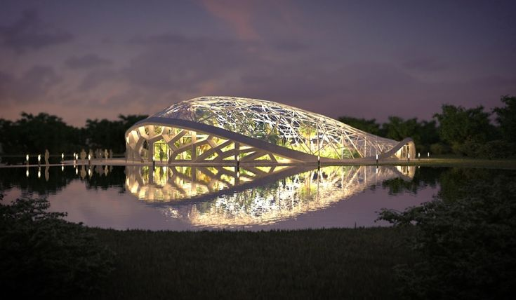images: Glasshouse and open-air theatre in Debrecen – student plan of Sándor Donka