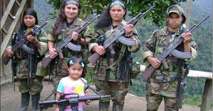 Questão Nuclear.: as FARC têm uma grande quantidade de mulheres guerrilheiras !