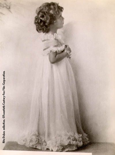 1930s - Shirley Temple - Shirley's mother made this dress for a previous photo shoot.