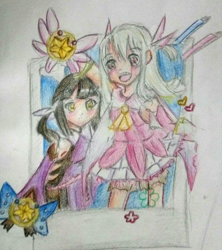 fate kaleid liner prisma illya illya and miyu.ruby and sapphire #fateseries #illyax miyu #arts
