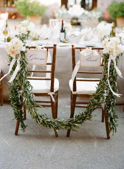 These bride and groom chairs are divine: http://www.stylemepretty.com/california-weddings/santa-rosa/2015/01/14/rustic-northern-california-summer-wedding/ | Photography: Josh Gruetzmacher - http://joshgruetzmacher.com/