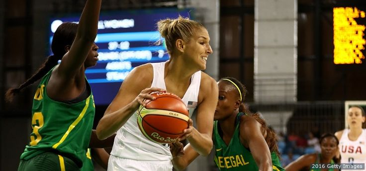 Elena Delle Donne drives the ball against Senegal in a women's preliminary round basketball game at the Rio 2016 Olympic Games at Carioca Arena 1 on Aug. 7, 2016 in Rio de Janeiro.The Best Photos From Rio 2016: Aug. 7 Edition