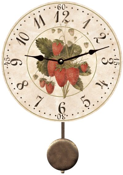Kitchen Clock With Strawberry Print Keukenklok Met