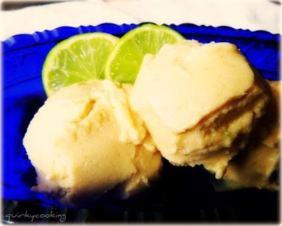 Quirky Cooking: Vanilla Coconut Pine Lime Sorbet