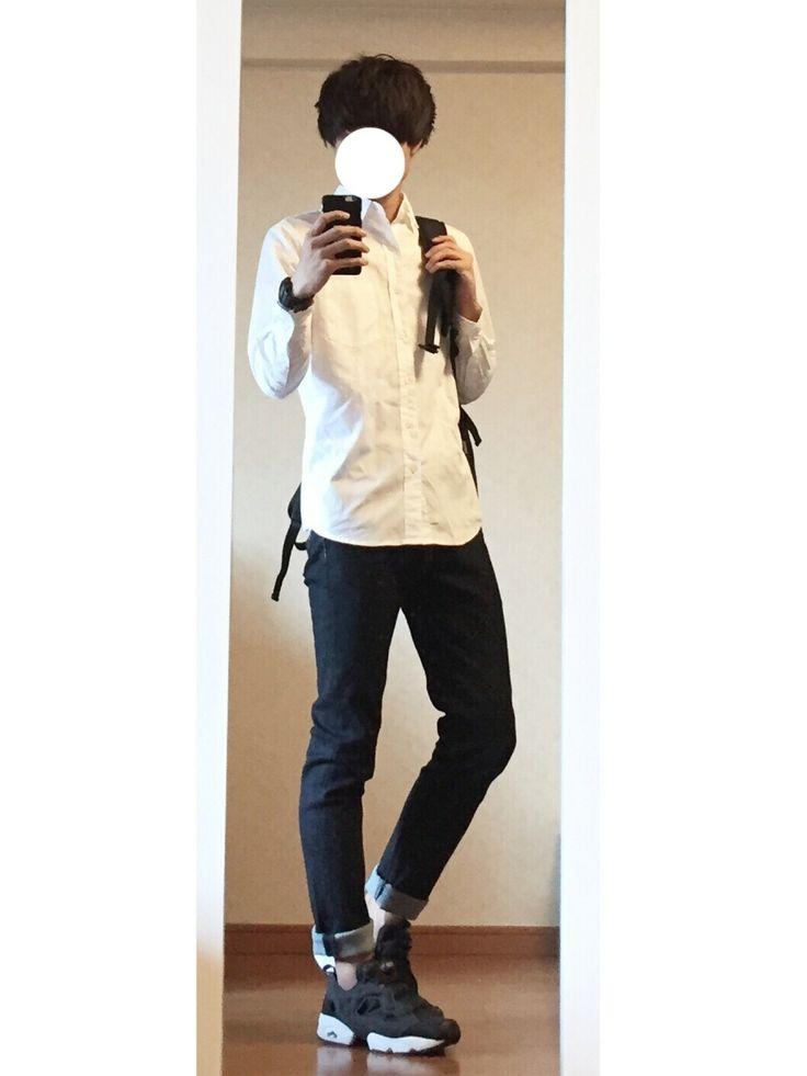 takuyaさんの「【BACKNUMBER】ムジレギュラーシャツ(Right-on)」を使ったコーディネート