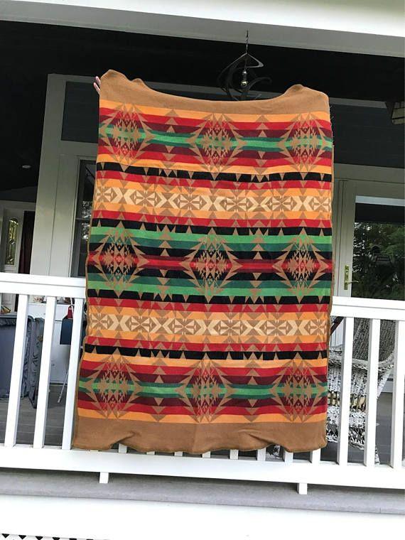 Cayuse Indian Blankets Pendelton Woolen Mills Vintage Wool