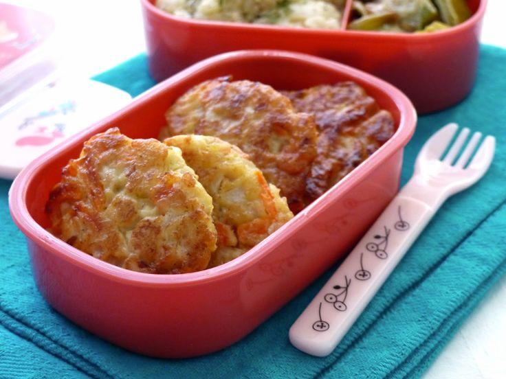 Croquettes chou-fleur, carottes et parmesan | Recettes pour mon bentô