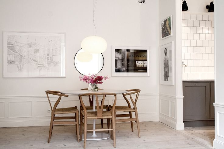 dining, wishbone chairs | Styling Pelle Lundquist