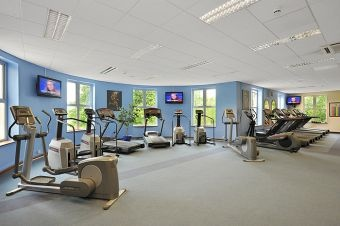 Spacious, Fully Equipped Air-conditioned Gym, Treadmills,   Steppers,  Free Weights and Machine Weights,  Rowers,  Upright and Recumbent Bikes and Cross Trainers