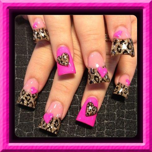 Pink and leopard  by Oli123 - Nail Art Gallery nailartgallery.nailsmag.com by Nails Magazine www.nailsmag.com #nailart