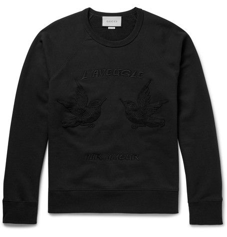 Hummingbird Embroidered Sweater - Gucci