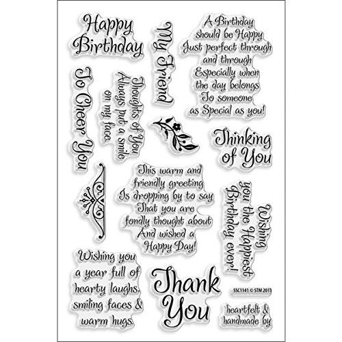 Stampendous Perfectly Clear Stamp, Friendly Phrases Image STAMPENDOUS