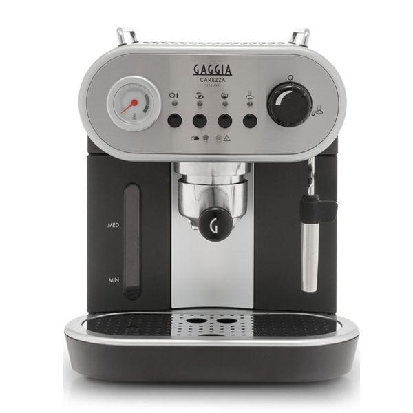 Gaggia Carezza de Luxe  Gaggia Carezza: de perfecte combinatie tussen traditioneel en modern De Gaggia Carezza is een prachtige handmatige espressomachine met roestvrijstalen behuizing. De Carezza is een samensmelting van traditioneel en modern. Het rijke erfgoed wordt gecombineerd met de allernieuwste technologie. De Gaggia Carezza heeft een koffiefilter voor 1 of 2 koppen koffie en hij heeft ook een speciaal filter voor de ESE-pads. Espessomachine Roestvrijstalen behuizing Geschikt voor…