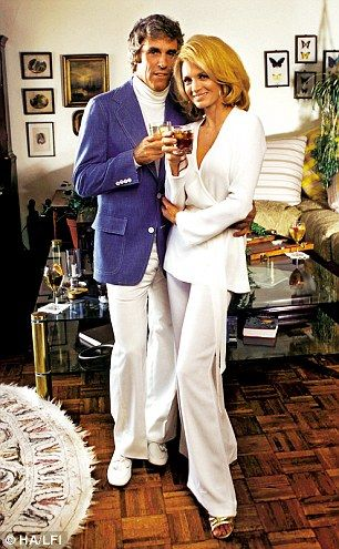 Cocktails with Burt Bacharach and his wife Angie Dickinson at their home in 1975. I love everything about this. It's just sooo 1975.