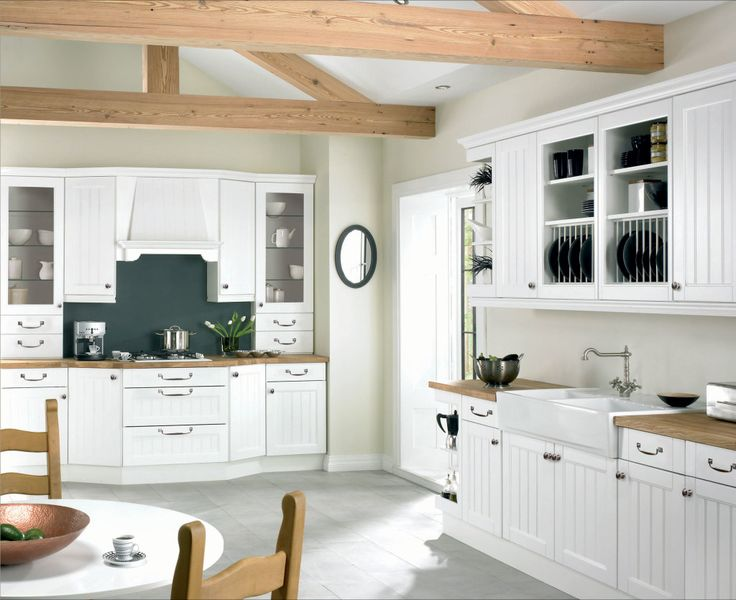 Kitchen  Big White Wooden Kitchen Collection With Black Granite Countertop Plus Backspalsh Tile Design Spectacular Kitchen Collection with Classy Cooking styles