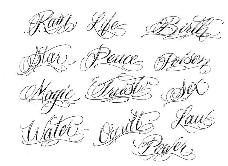 25 best ideas about cursive fonts for tattoos on for Flowy tattoo fonts